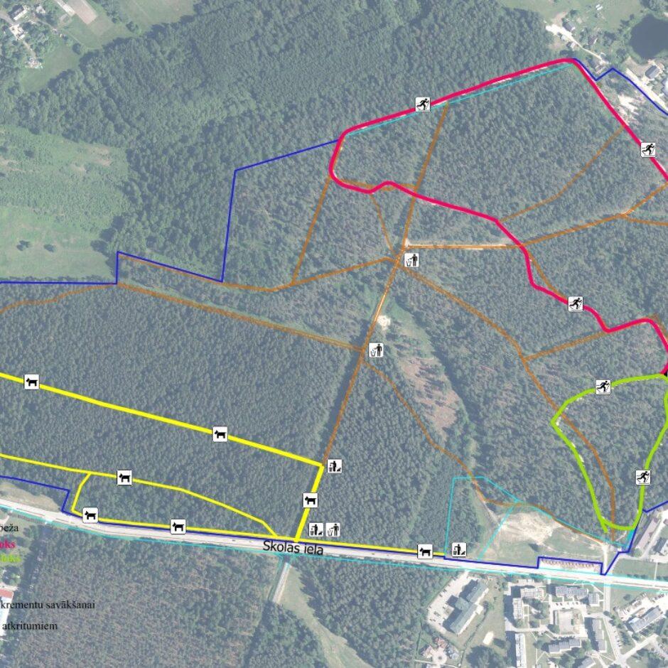 Ozolnieku Mežaparka karte
